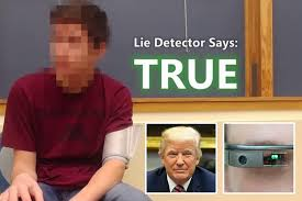 Lie Detector Meme - bloke claiming to be a time traveller from 2030 passes lie detector