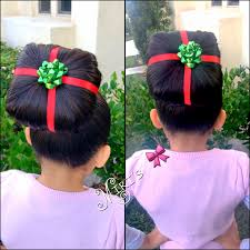 christmas present hair style for little girls my creation