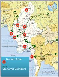 Map Burma Did You Know Myanmar Economic Corridors
