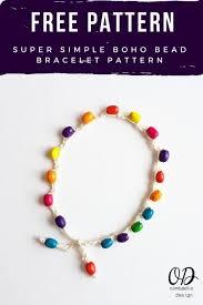 beaded bracelet crochet images Super simple boho beaded bracelet pattern oombawka design crochet jpg
