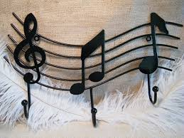93 best cool gifts for your musician images on pinterest black wall hook treble clef and music notes coat rack towel rack