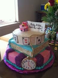 dreaming in buttercream alice in wonderland baby shower cake