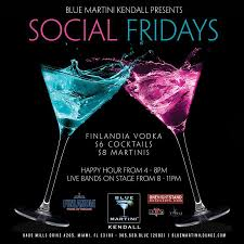 blue martini ons events social fridays at blue martini kendall hosted by ons