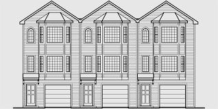 triplex house plans townhouse plans 2 bedrm triplex plans t 415