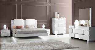 White Gloss Bedroom Furniture Status Caprice White Bedroom By Esf W Options
