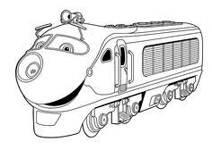 chuggington snow rescue coloring page printable coloring pages