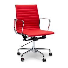 management leather office chair eames replica red interior