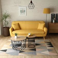 canapé jaune moutarde le nils canapé scandinave 3 places jaune moutarde 2 coussins