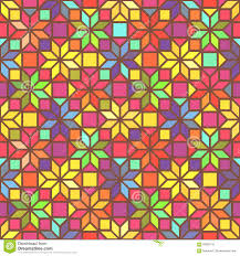 star shape colorful geometric stained glass seamless pattern