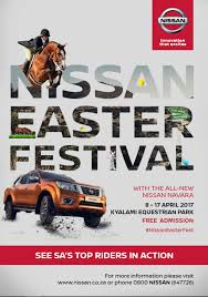 nissan innovation that excites logo the nissan easter festival u2013 an equestrian extravaganza u2013 gauteng