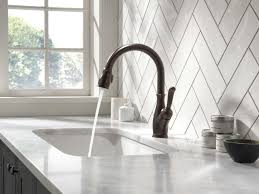 Delta Hands Free Kitchen Faucet Leland Kitchen Collection