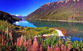 sunny snowy mountains wallpapers lake peaks mountains lake beautiful autumn loim river snowy