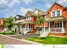 row of new suburban homes stock photo image 33441940