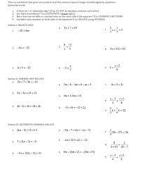algebra one worksheets worksheets