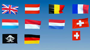 Europe Flags Western Europe Flags Alpha Is Included Motion Background