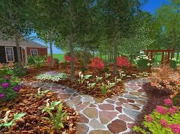 hillside backyard landscaping house design with rocks various