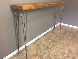furniture unique hallway table with iron leg also white paint