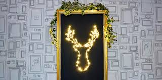 Christmas Decor Deer Head by Brilliant Diy Led Deer Christmas Decoration Pillar Box Blue