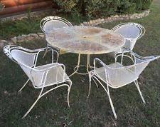 Woodard Patio Table Vintage Heavy Duty Wrought Iron Patio Set Salterini Woodard