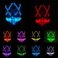 Led Light Halloween Costume Purge Movie Flash El Led Wire Scary Mask Party Festival Halloween