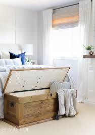 diy blanket storage chest a burst of beautiful