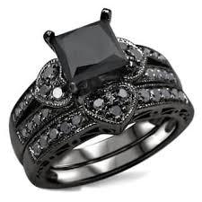 black wedding ring set black bridal sets wedding ring sets for less overstock