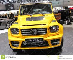 mansory mercedes g63 mansory mercedes s600 at the iaa 2015 editorial stock image