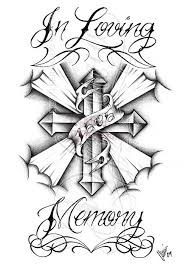 memorial cross tattoos tattoo collections