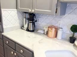 Images For Kitchen Backsplashes Kitchen Beveled Arabesque Tile For Kitchen Backsplashes And