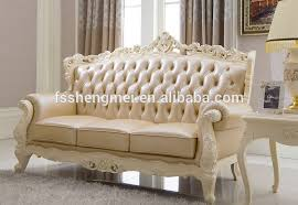 Real Leather Sofa Set by Wood Color Classic Sofa Red Real Leather Sofa Set Wood Carving