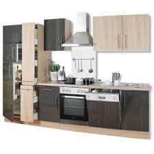 roller einbauküche küchenblock sonoma eiche lava hochglanz 310 cm roller