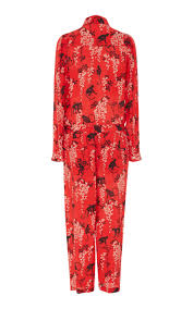 amazon jordan ra on black friday silk monkey print jumpsuit by red valentino moda operandi