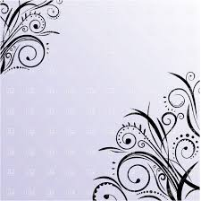 blue card with simple curly ornament in corners vector clipart