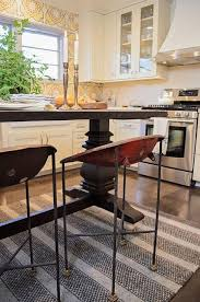 trestle table as kitchen island design ideas