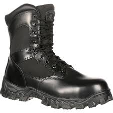 waterproof biker boots alphaforce zipper waterproof duty boot by rocky boots fq0002173