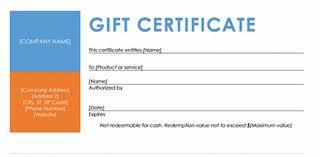 ms word gift certificate template custom gift certificate