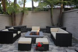 Backyard Patios With Fire Pits by Small Backyard Patio Fire Pit Planters Walls Project View 18