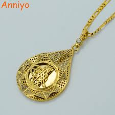 necklace coin images Anniyo luxury coin necklace turks women men gold color turkey jpg