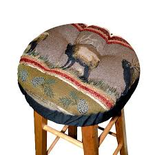 woodlands northwoods bar stool cover with cushion u2013 barnett home decor