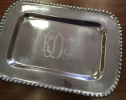 monogrammed platters and trays monogrammed tray etsy