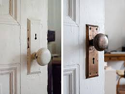 How To Paint The Hinges Or Hardware On Your Cabinets Or Furniture Before U0026 After Cleaning Vintage Metal Hardware U2013 Design Sponge