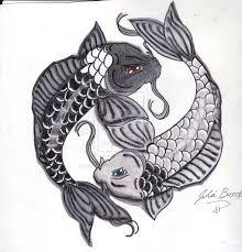 drawn koi fish sea animal pencil and in color drawn koi fish sea