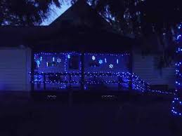 Outdoor Light Decorations Blue Led Lights Decorating Outdoors Tips Exles