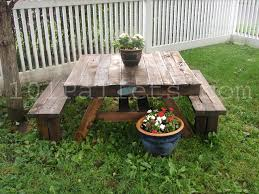 Build A Picnic Table Cost by 15 Unique Pallet Picnic Table 101 Pallets