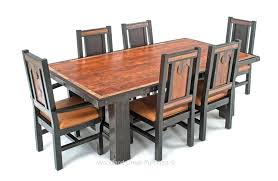 Western Style Dining Room Sets Western Dining Room Sets Custom Made Ranch Table Rustic Western