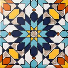 Moroccan Tile Arabesque Almas Inset Tile A Geomtric Patterned Tile With A