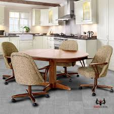 caster dining room chairs caster dinette sets dining table set with swivel caster dinette