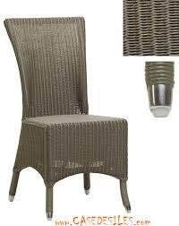 chaises en osier meubles en rotin contemporain épuré