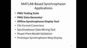 pmu si e social synchrophasor applications matlab matlab