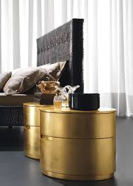 Gold Bedside Table Glamorous Round Bedside Tables Featuring Twin Gold Nightstand And